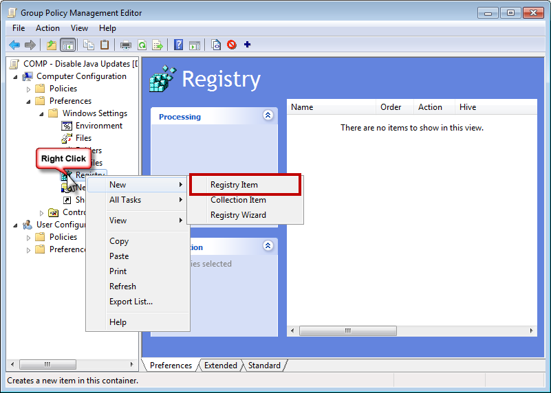 Disable Java updates with Group Policy Object (GPO) – HeelpBook