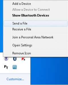 Transfer files via Bluetooth between phones and Windows 7