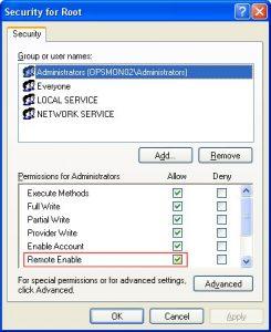 Enable WMI (Windows Management Instrumentation)