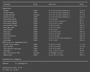 Linux - Removing Apache HTTP Server