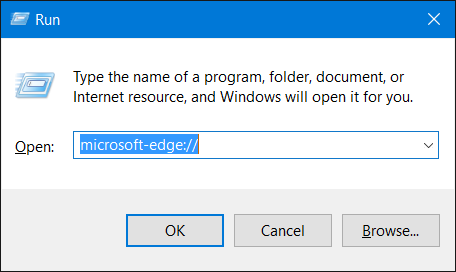 Microsoft Edge - Open from Run or Command Prompt