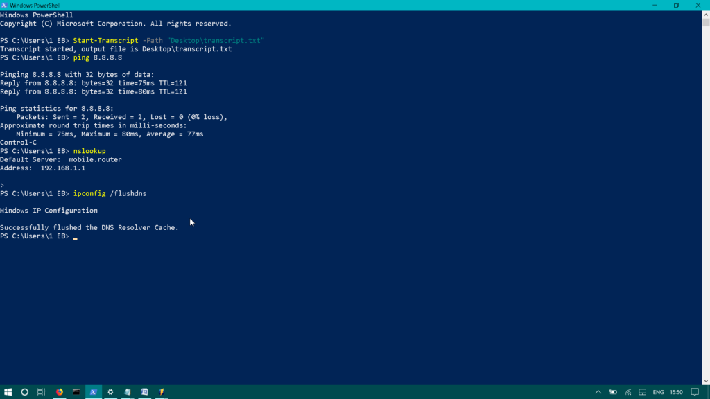 Powershell - How to use Transcripts to keep history of commands and output