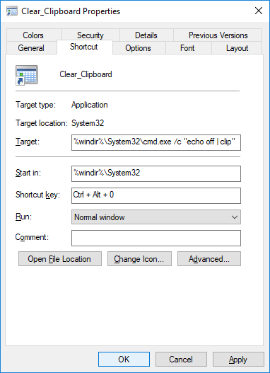 Clear Clipboard by using Command Prompt, Shortcut and Context Menu