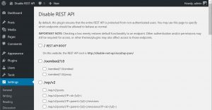 Wordpress - Disabling XML-RPC and Rest API to improve security