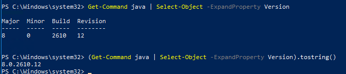 Java (JRE/JDK) - Check version installed (Classic and Powershell methods)